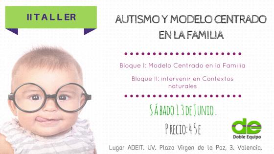 taller autismo modelo centrado en la familia