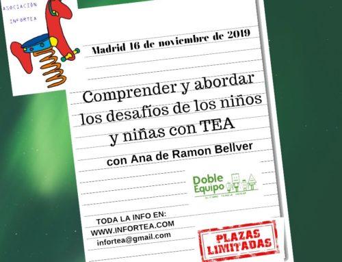 Taller: Comprender y abordar los desafíos de los niños y niñas con TEA (Madrid)
