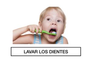 autismo y participación rutina lavar los dientes