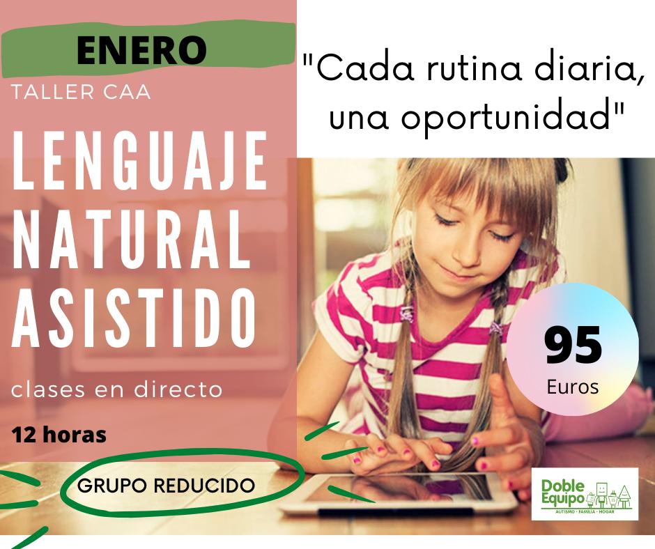 cartel curso Lenguaje natural asistido enero