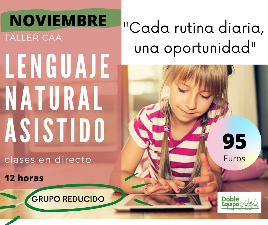 cartel curso lenguaje natural asistido