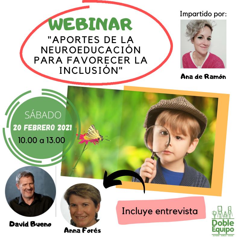 cartel webinar aportes neuroeducación inclusión