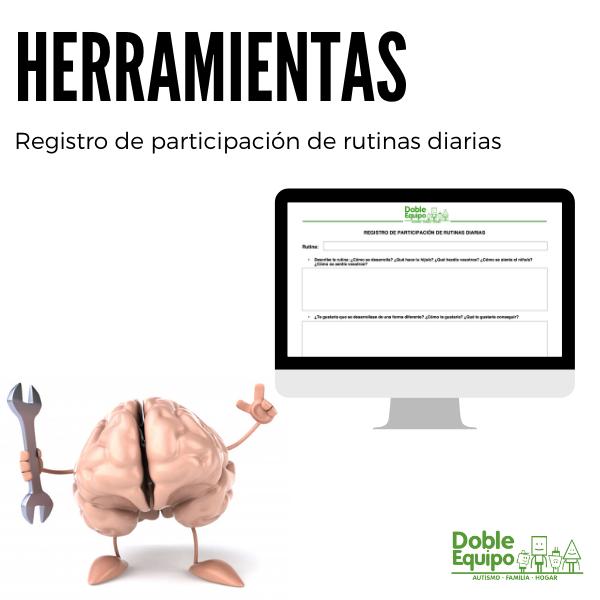herramientas registro participación rutinas diarias