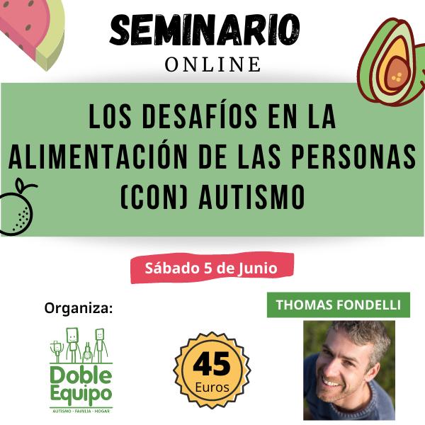 cartel seminario desafíos en la alimentación autismo junio