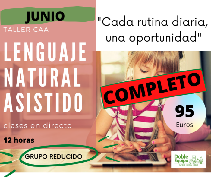 cartel taller lenguaje natural asistido formación junio completo