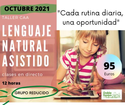 cartel taller lenguaje natural asistido octubre 2021 doble equipo