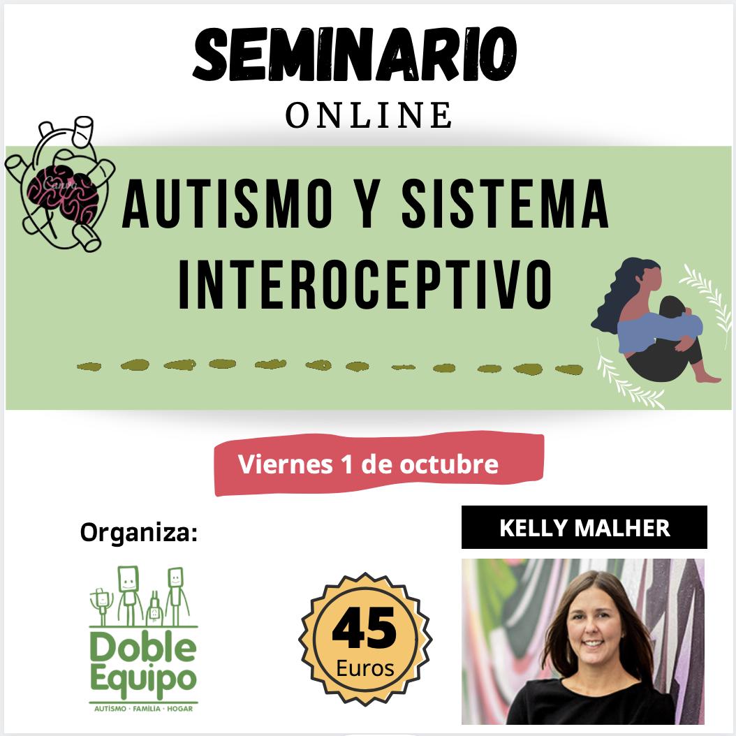 cartel Seminario autismo y sistema interoceptivo Kelly Mahler